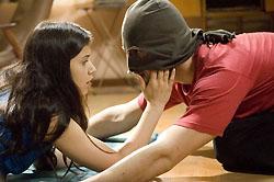 24/10/2006 - Mel Lisboa e Sérgio Marone no filme